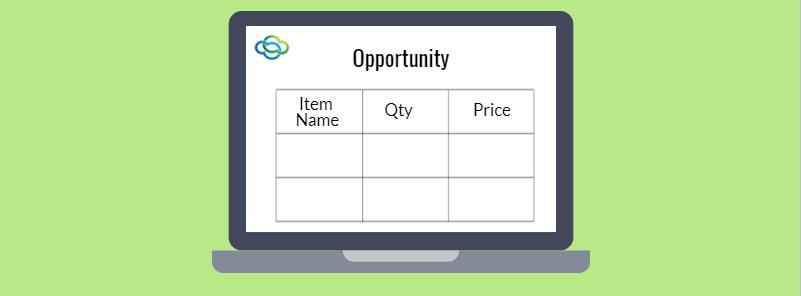 opportunity line item inVtiger