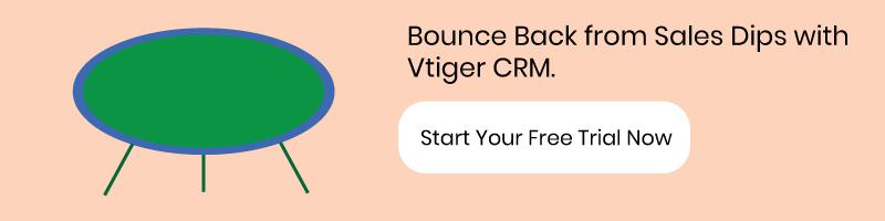Sales Dip, bounce back, trampoline, vtiger crm