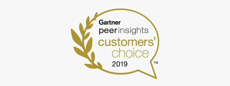 2019 Gartner Peer Insights Customer's Choice Award