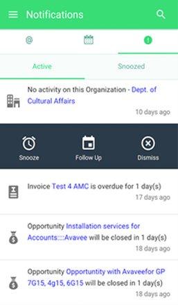 iPhone CRM app
