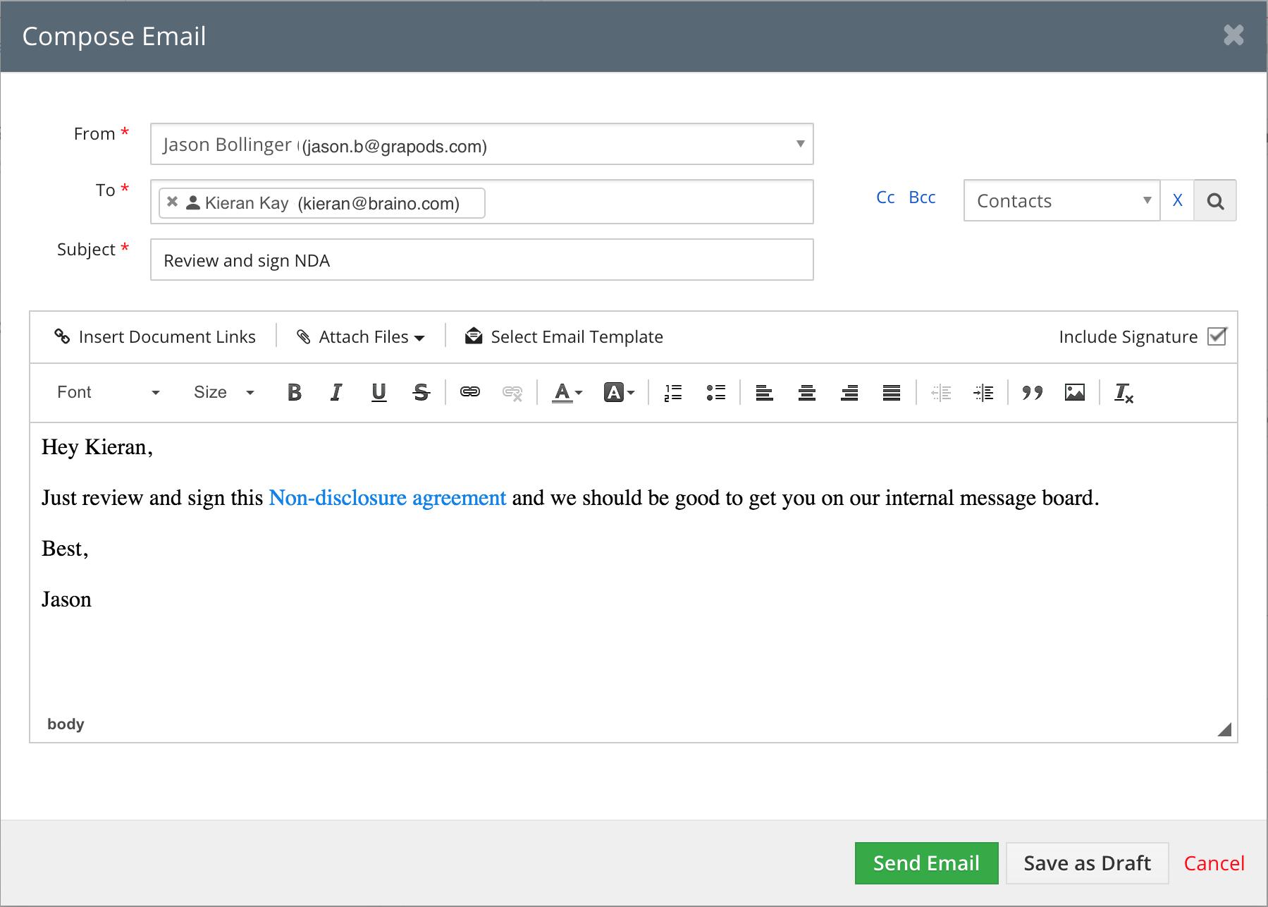 vtiger document manager software