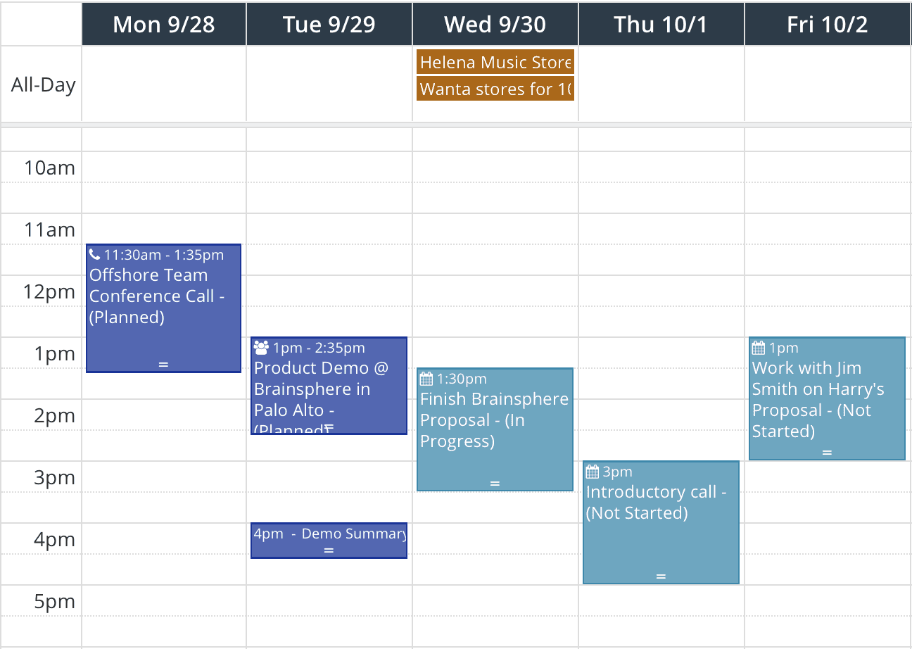 Link Opportunities to Calendar Events