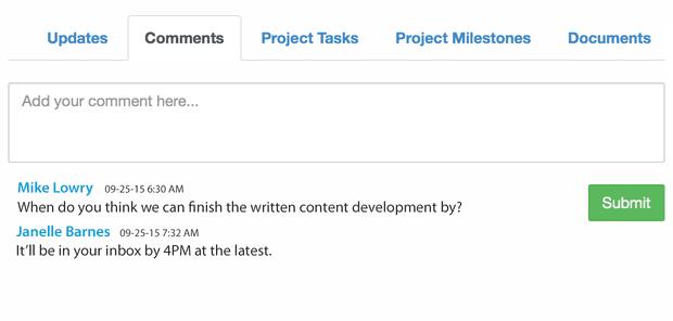 Portail client de gestion de projet